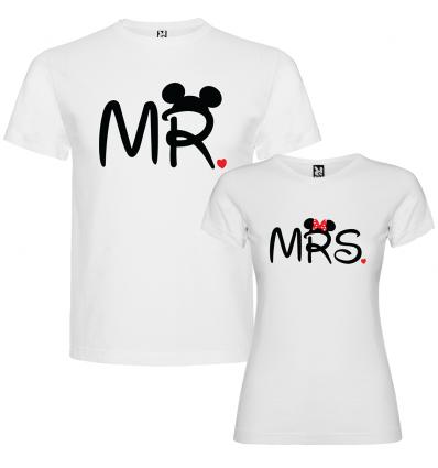 Tričko pro páry s motivem Mr. & Mrs.