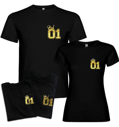 Trička pro páry King a Queen 01 - zlatý chrom