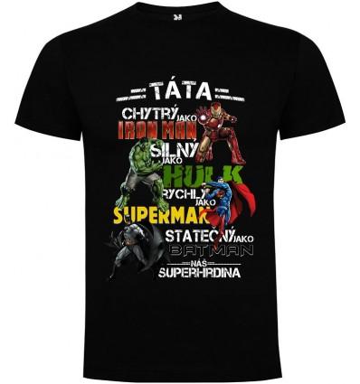 Pánské tričko TÁTA SUPERHRDINA 2.0