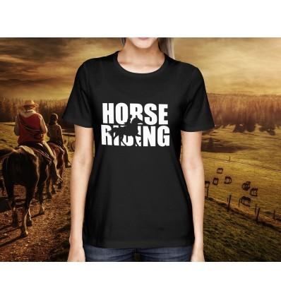 Dámské tričko s motivem Jezdectví s nápisem HORSE RIDING