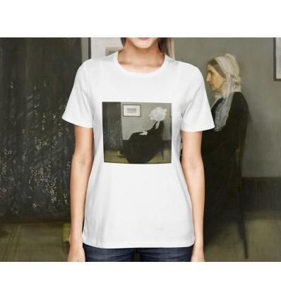 Dámské tričko s motivem Whistlerova matka a lá Mr. Bean