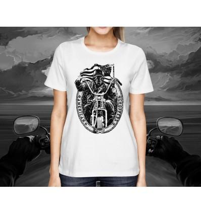 Dámské tričko pro motorkáře AMERICAN CHOPPER lebka