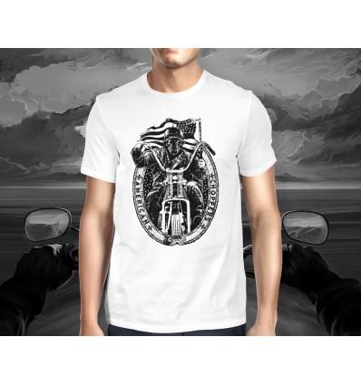 Pánské tričko pro motorkáře AMERICAN CHOPPER lebka