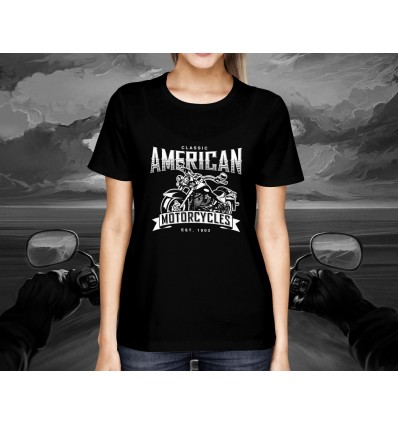 Dámské tričko pro motorkáře CLASSIC AMERICAN MOTORCYCLES