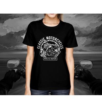 Dámské tričko pro motorkáře CLASSIC AMERICAN MOTORCYCLES B&R