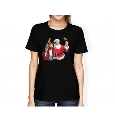 Tričko s motivem Ježíš and Santa BFF