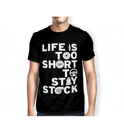 Pánské tričko s motivem Life is to...